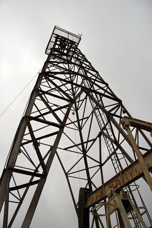 Těžní věž v obci Gbely.
