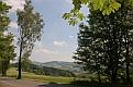 Obr. 3 - Výhled od rozcestníku Skalky, rozcestí